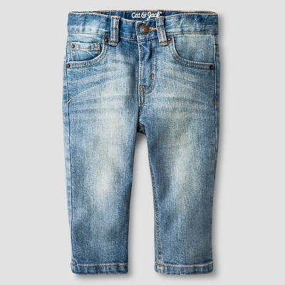 Baby Boys' Straight Fit Jeans Baby Cat & Jack™ - Light Wash 18 M