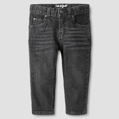 Baby Boys' Straight Fit Jeans Baby Cat & Jack™ - Black Wash 12 M