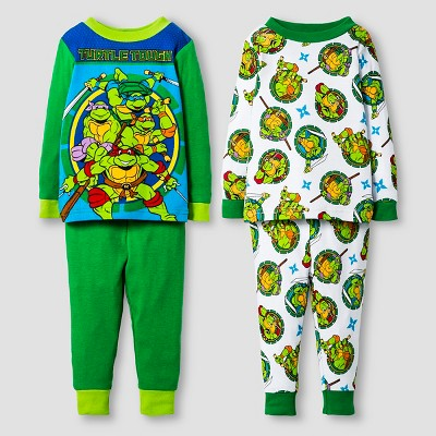 Pajama Sets TMNT Green 12  MONTHS