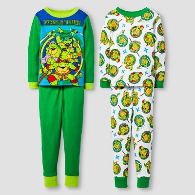 Pajama Sets TMNT Green 5T