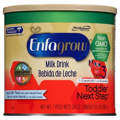 Enfagrow Toddler Next Step Natural Milk, Non-GMO Powder - 24oz