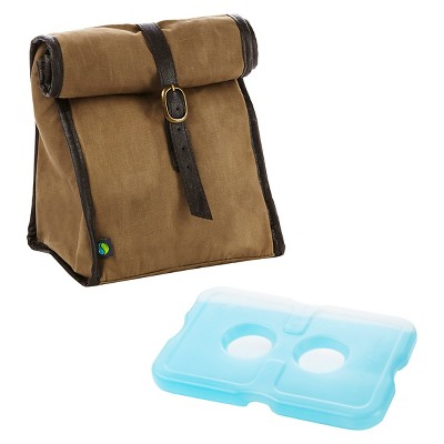 Fit & Fresh Classic Insulated Lunch Bag with Reusable Ice Pack - Light Brown
