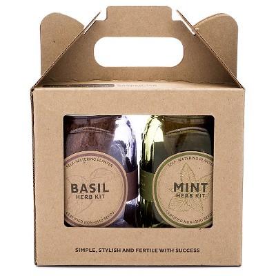 Modern Sprout™ - Garden Jar Basil Mint 2 pack