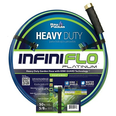 Ray Padula InfiniFlo Platinum 5/8 in. x 50 ft. Heavy-Duty Garden Hose