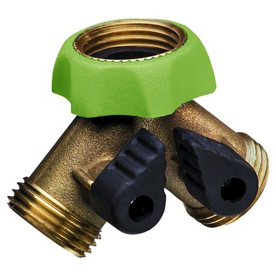 Ray Padula PRO Deluxe Brass Hose Faucet Y-Splitter Adapter