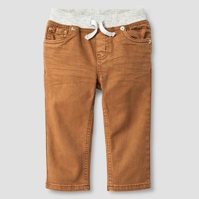 Baby Boys' Rib-Waist Straight Fit Jeans Baby Cat & Jack™ - Khaki 12 M