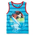 Baby Boys' Mickey Mouse® Stripe Tank Top - Turquoise Blue 12 M