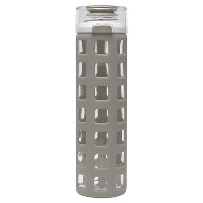 Ello Syndicate 20oz Glass Water Bottle - Earch Grey