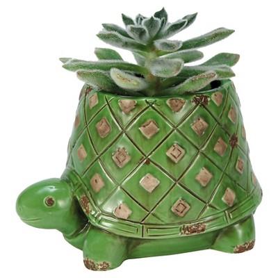 Green Turtle Planter