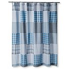 "Carter Shower Curtain (72""x72"") Blue - Sheringham Road"