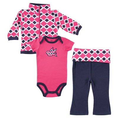 Yoga Sprout Baby Hoodie, Bodysuit & Pants Set - Bird 0-3M