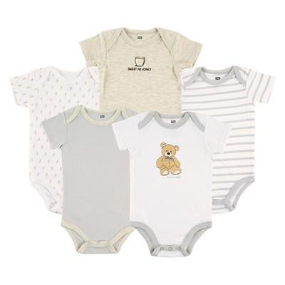 Hudson Baby Newborn Boys' 5 Pack Bodysuits - Bear 0-3M