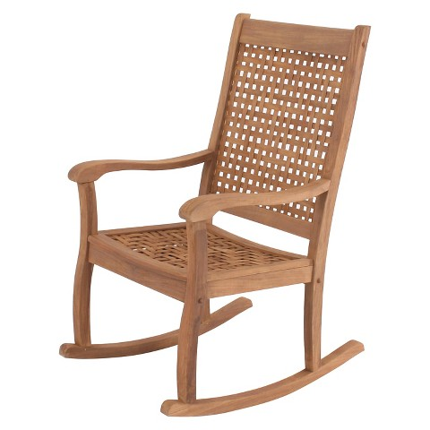 Willow Bay Patio Rocking Chair W Woven Seat Ba Target