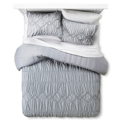 Textured Jersey Comforter Set Full/Queen Gray - Xhilaration™