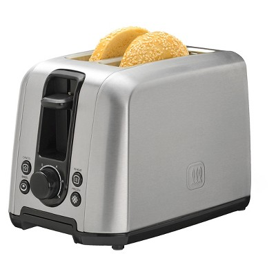 Toastmaster 2 Slice Stainless Steel Toaster with Frozen Button