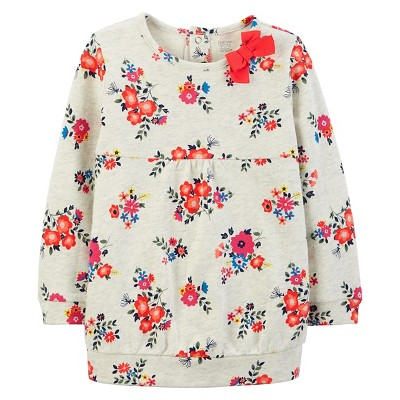 Just One You™Made by Carter's® Girls' Long-sleeve Floral Top - Ivory/Pink 6