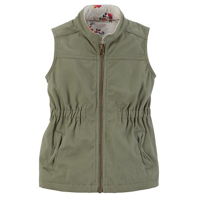 Just One You™Made by Carter's® Girls' Zip Up Vest - Olive 12M