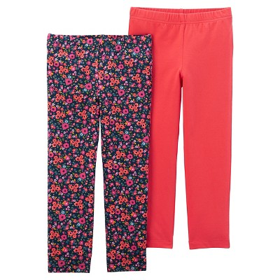 Just One You™Made by Carter's® Girls' 2 Pack Floral Leggings - Red 12M