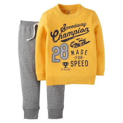 Just One You™ Made by Carter's®  Boys' Set Gold/Heather Grey - 18M