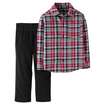 Just One You™ Made by Carter's® Boys' Set Red Plaid/Black - 12M