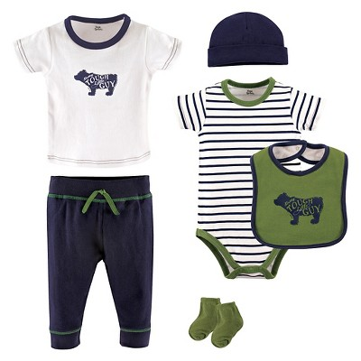 Yoga Sprout Baby Boys' 6 Piece Set - Bear 3-6M