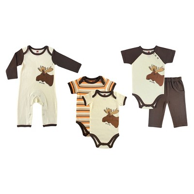 Touched by Nature Baby Boys' Organic 5 Piece Gift Set - Moose 6-9M