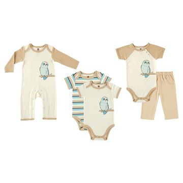 Touched by Nature Baby Organic 5 Piece Gift Set - Owl