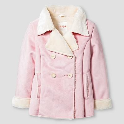 Toddler Girls' Shearling Pea Coat Cat & Jack™ - Pink 4T