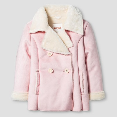 Baby Girls' Shearling Pea Coat Baby Cat & Jack™ - Pink 18M