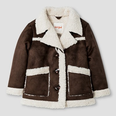 Baby Boys' Shearling Jacket Baby Cat & Jack™ - Brown 12M