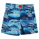 Toddler Boys' Penny M Shark Swim Trunks Blue 2T