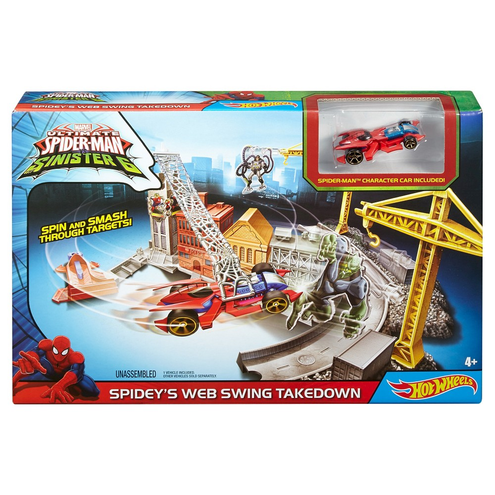 Hot Wheels Marvel Spidey's Spinning Web Swing Track Set