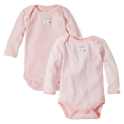 Burt's Bees Baby™ Newborn Bee Essentials 2 Pack Long Sleeve Bodysuits - Blossom 3-6M