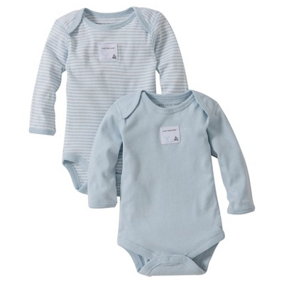 Burt's Bees Baby™ Newborn Bee Essentials 2 Pack Long Sleeve Bodysuits - Blue 3-6M