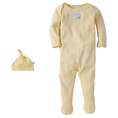 Burt's Bees Baby™ Newborn Bee Essentials Coverall & Hat Set - Yellow 3-6M