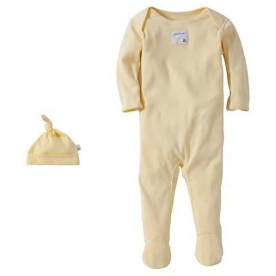 Burt's Bees Baby™ Newborn Bee Essentials Coverall & Hat Set - Yellow 6-9M