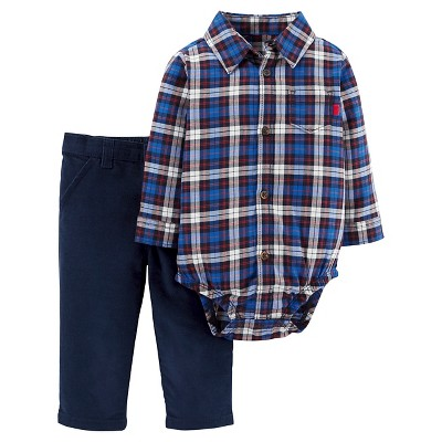 Just One You™Made by Carter's® Baby Boys' 2 Piece Bodysuit and Pant Set - Blue - 3M