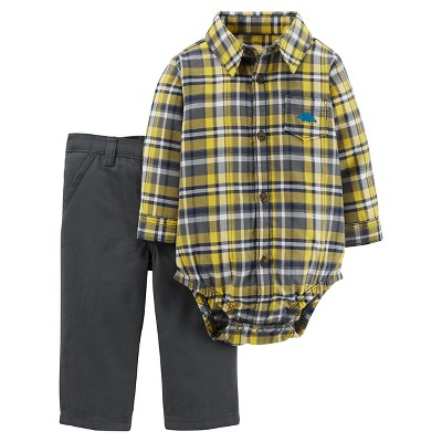 Just One You™Made by Carter's® Baby Boys' 2 Piece Set - Yellow/Grey - 9M