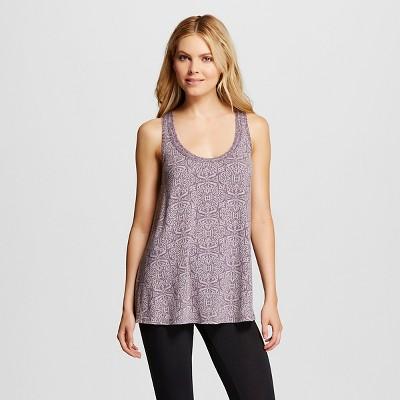 Women's Pajamas Printed Cami with Shelf Bra Purple S - Gilligan & O'Malley®