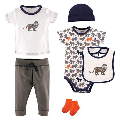 Yoga Sprout Baby Boys' 6 Piece Set - Lion 3-6M