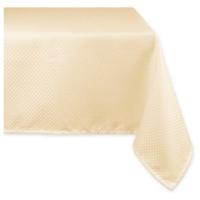 Elegant Bead Tablecloth - Natural - 70 X 104""