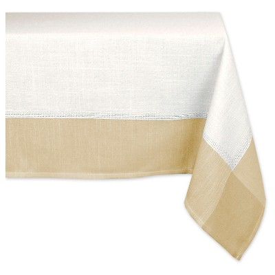 "Polyester Border Tablecloth - 60 X 84"" - White"