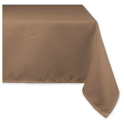 Elegant Bead Tablecloth - Brown - 70 X 120""