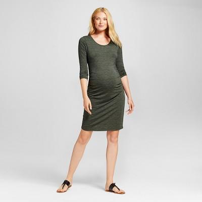 Maternity Spacedye 3/4 Sleeve Tee Dress Moss/Federal Blue Spacedye - XXL - Liz Lange® for Target