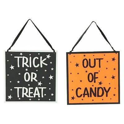 """Halloween """"Trick or Treat"""" Door Sign - Spritz™"""