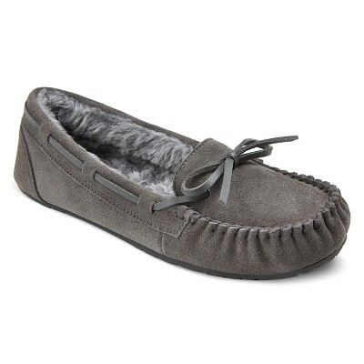 Women's Chaia Genuine Suede Moccasin Slippers - Grey 7