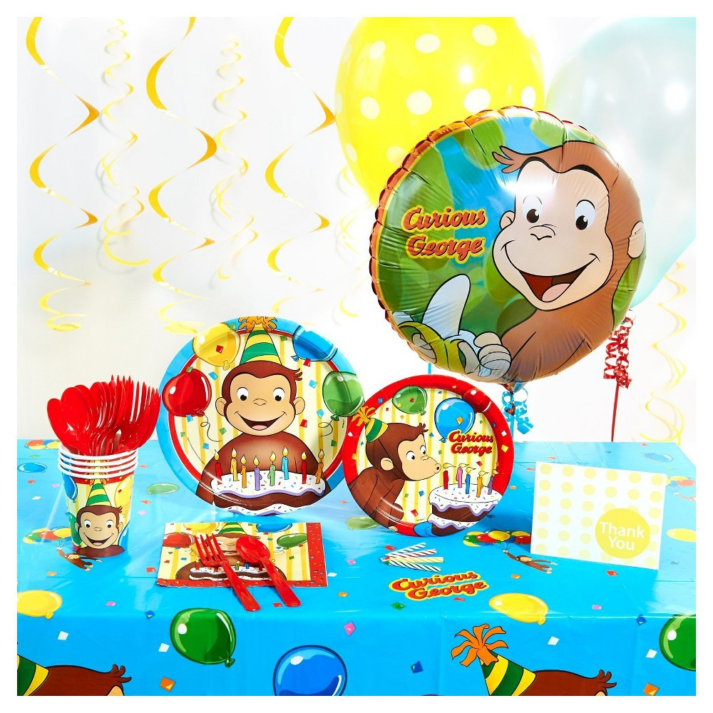 Curious George Basic Party Pack, Multi-Colored