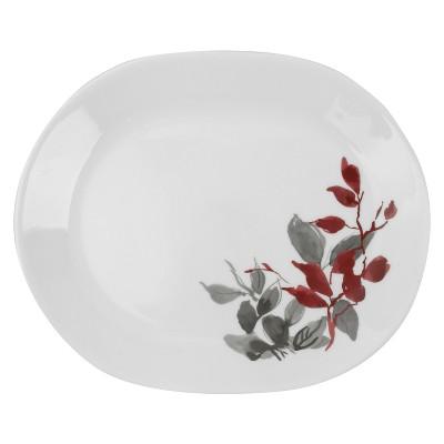 """Premium Registry Corelle Boutique Kyoto Leaves 12.25"""" Oval Serving Platter"""
