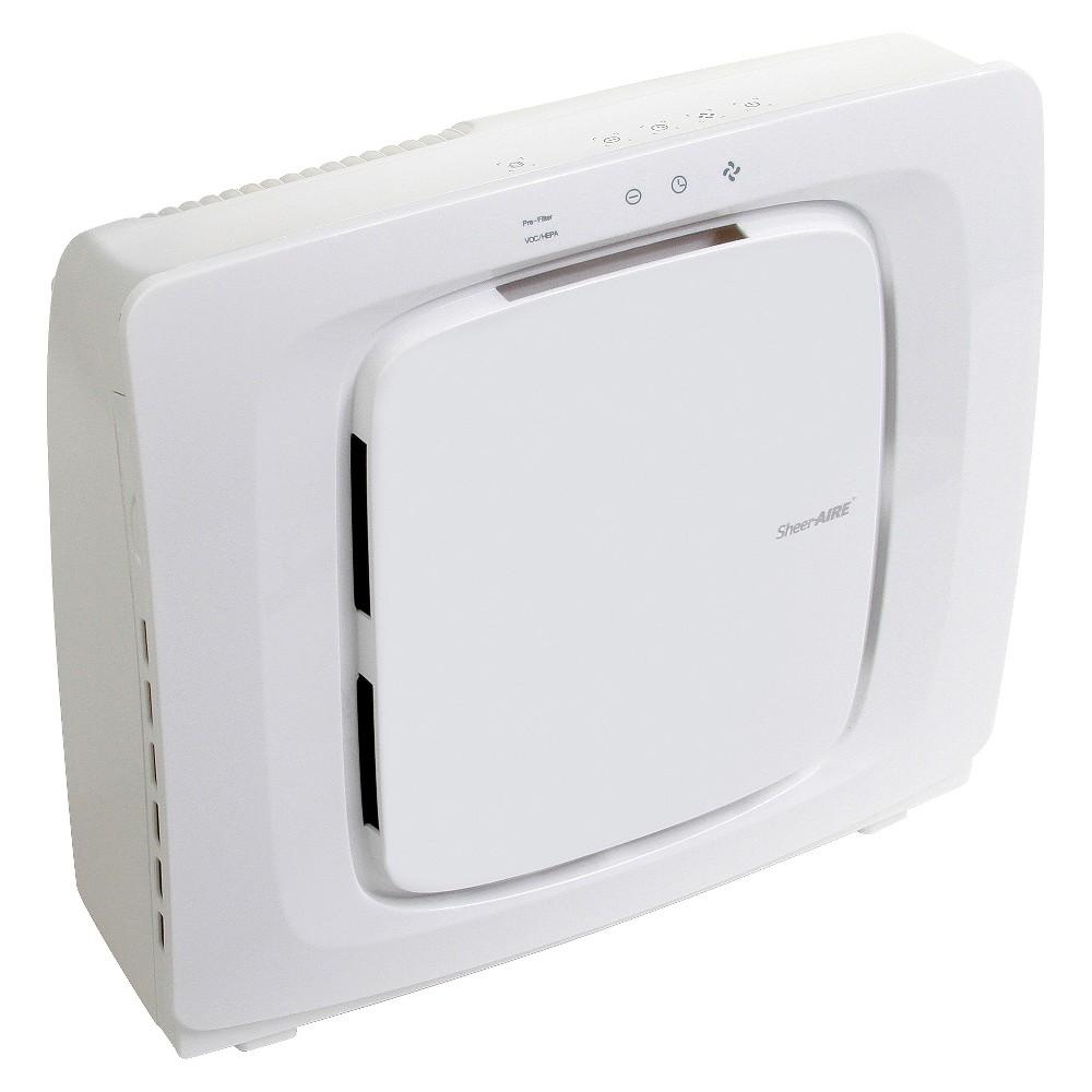 SheerAIRE Quiet Medium Room Hepa Air Purifier with Remote, White