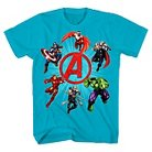 Boys' Marvel Avengers Graphic T-Shirts - Turquoise XS